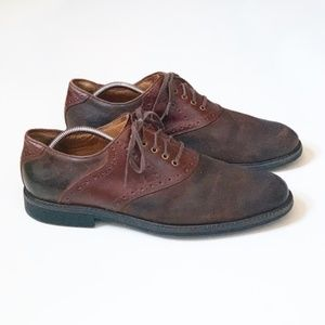 Johnston Murphy Brown Leather Oxfords Dress Shoes